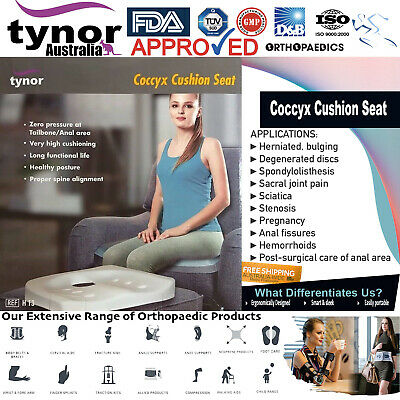 £47.55 • Buy Tynor™ Coccyx Cushion Seat Office Chair For Tailbone Sciatica & Back Pain Relief