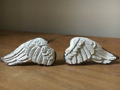 PAIR Angel Wing Knobs For Shabby Chic Furniture  Cabinet Cupboard Doors Drawers • 9.99£