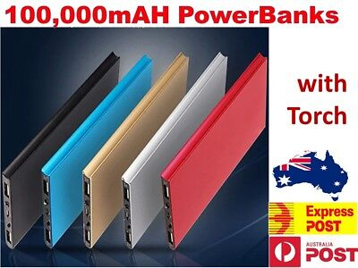 AU23.95 • Buy 100000mAh Portable Power Bank USB Battery Charger Powerbank For IPhone Mobile