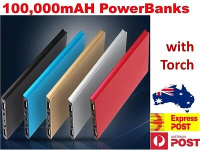 AU23.45 • Buy 100000mAh Portable Power Bank USB Battery Charger Powerbank For IPhone Mobile