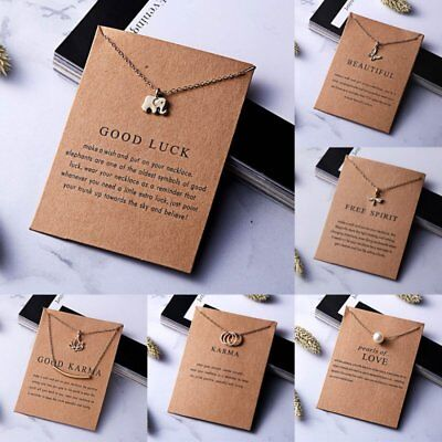 $0.76 • Buy Women Necklace Elephant Pendant Gold Clavicle Chains Choker Card Jewelry Gifts