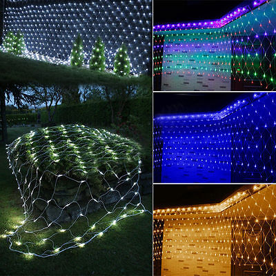 Home DIY LED Net Lights Garden Mesh Curtain Christmas Trees Wedding Party Decor • 17.85£