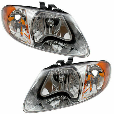 $112.38 • Buy New Head Light For 01-07 Caravan Town & Country Voyager Driver & Passenger Set 2