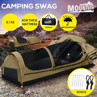 AU219.99 • Buy Mountview Double King Single Swag Camping Swags Canvas Dome Tent Hiking Khaki