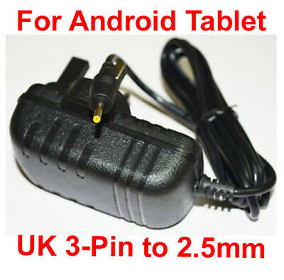 Android Tablet AC DC Wall Adapter 2.5mm Cable Power Supply Charger 5V Mains • 1.25£