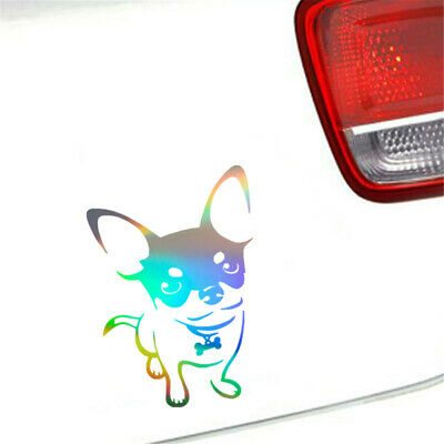 2pcs Cute Chihuahua Dog Car Sticker Window Laptop Truck Pad Motorcycle Decal • 2.06£
