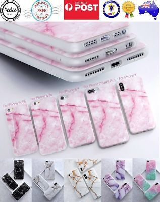 AU5.99 • Buy IPhone XS Max X 6 7 8 Plus Case Marble Soft TPU Shockproof Cover Gel Silicone