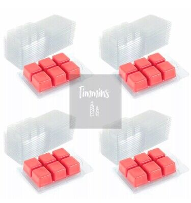 TIMMINS CANDLES - 20 Clamshell Mould Wax Melts - From Recycled Plastic 22mm Deep • 11.99£