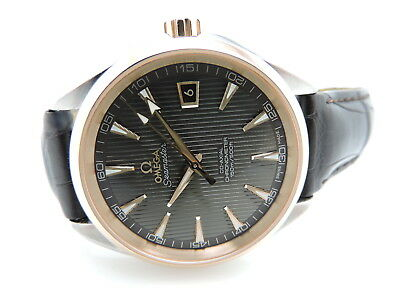 Omega Aqua Terra Co-Axial Teak-Grey Dial Brown Leather Strap#231.23.42.21.06.003 • 4,596.34£