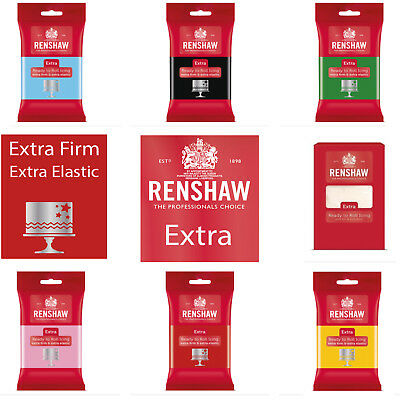Renshaw Extra Ready To Roll - Extra Firm Extra Elastic 250g 500g 750g 1KG 2.5KG • 3.49£