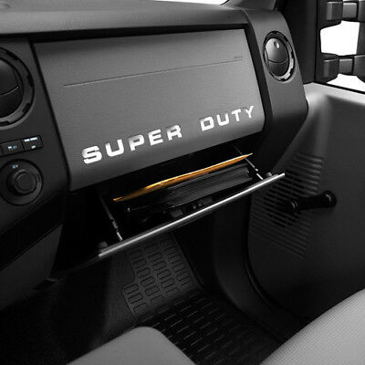 $4.99 • Buy 2008-2016 Ford F-250 SUPER DUTY Dash Board Vinyl Letters Chrome Inserts Stickers