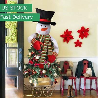 $9.49 • Buy US 2018 New Snowman Christmas Tree Topper Hug Man Xmas Indoor Decoration Gifts