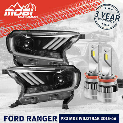 AU599.99 • Buy LED Projector Headlights For Ford Ranger PX2 PX3 Everest 2015-ON Mustang Style