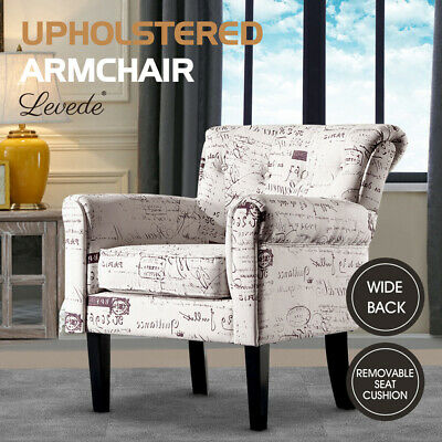 AU245.99 • Buy Levede Armchair Luxury Upholstered Couch Lounge Accent Chair SofaPadded Fabric