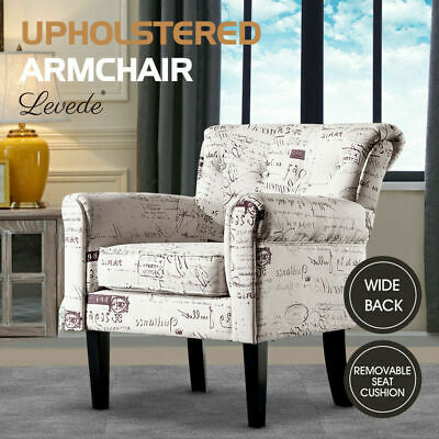 AU259.99 • Buy Levede Luxury Upholstered Armchair Dining Chair Single Accent Padded Fabric Sofa