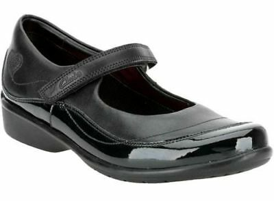 £19.99 • Buy Girls Clarks Black Leather Riptape Shoes H Fitting : DAISY CHAIN
