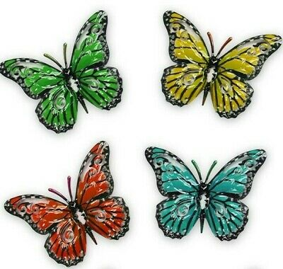 Primus Multi-colour Small Metal Butterflies Pack Of 4 Garden Ornament Wall Art  • 7.99£