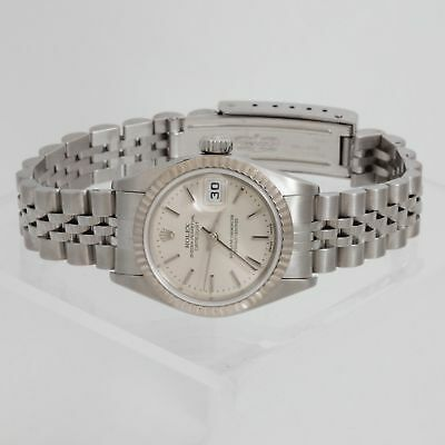 $ CDN4026.87 • Buy Rolex Datejust In Stainless Steel With 18K White Gold Fluted Bezel 79174