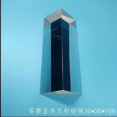 $41 • Buy 1PC K9 Optical Glass Triangular Right Angle Slope Reflecting Prism 30x30x100mm S