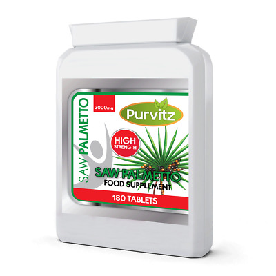 AU19.57 • Buy Saw Palmetto Extract 3000mg HIGH STRENGTH Prostate, Hair Loss, Urinary Tract UK