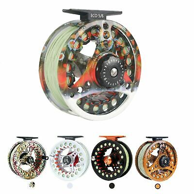 $ CDN57.33 • Buy Maxcatch ECO Fly Fishing Reel With Pre-Loaded Fly Line, Backing,Leader(3wt-8wt)