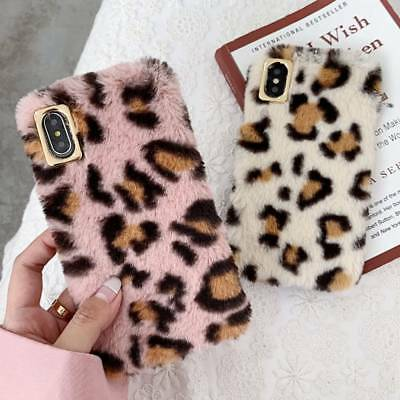 For IPhone Fancy Bling Crystal Fluffy Faux Fur Case Pompom Soft Warm Back Cover • 4.97£