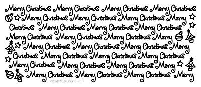 £1.10 • Buy MC4 Pretty Curly Merry Christmas Peel Off Stickers Trees Bauble Star Card Making