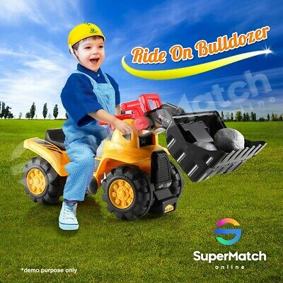 AU49.59 • Buy Kids Electric Ride-On Bulldozer Digger Tractor Car Children Toys W/Accessories