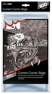 £7.90 • Buy 100 Ultra PRO Current Size Comic Bags Sleeves Protectors 174 X 266mm