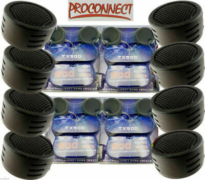 $ CDN21.07 • Buy 4 Pairs Of 1 Inch Car Tweeters Super High Frequency Mini Dome 2000W Total Power