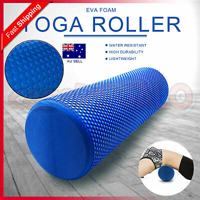 AU17.15 • Buy Physio EVA Foam Yoga Roller Gym Back Training Exercise Massage 45/60/90CM
