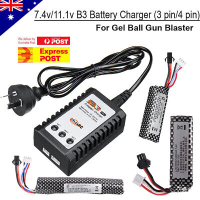 AU20.95 • Buy 7.4v/11.1v Lipo Battery B3 Balance Charger Gel Ball Blaster JinMing M4A1 Upgrade