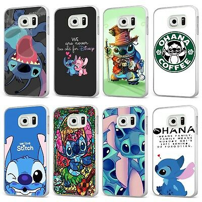 Lilo And Stitch Disney Ohana Family WHITE PHONE CASE COVER For SAMSUNG GALAXY  • 6.95£