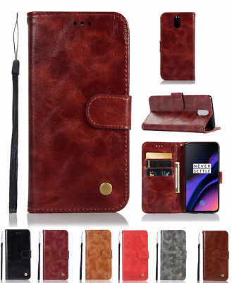 AU6.48 • Buy For OnePlus 6T 6 5T Retro Card Slots Wallet Stand Flip Cover Phone Leather Case