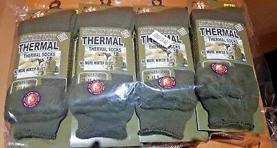 3 Pairs Of Men's Army Socks, 2.4 Tog Thermal Long Military Boot Socks, Size 6-11 • 11.99£