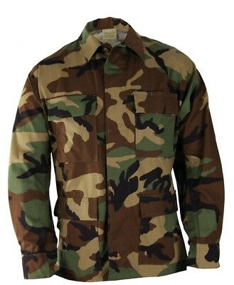 $ CDN29.26 • Buy Woodland Camouflage M81 BDU Army Jacket Used Hunting Camping Tactical Shooting
