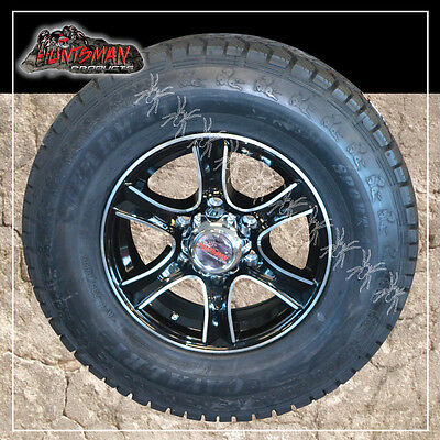 AU284 • Buy 16  6 Stud Stealth Alloy Mag Wheel & 245/75R16L/T Tyre. Caravan Camper Trailer