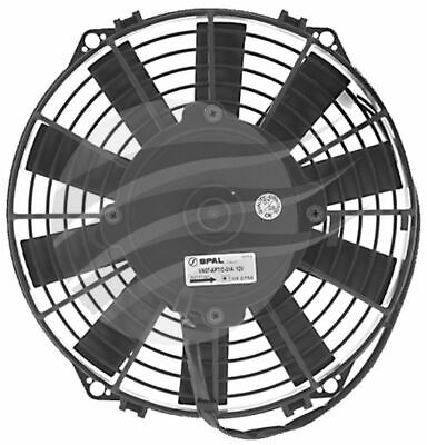 AU149 • Buy SPAL THERMO FAN 9 Inch (225MM) PULLER ELECTRIC 12V 624CFM STRAIGHT BLADE