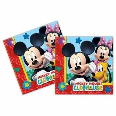 Disney Mickey Mouse Clubhouse Napkins 23cm 20pcs Kids Birthday Party Tableware • 2.05£