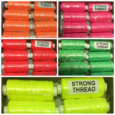 £2.29 • Buy Strong Thread Florescent Colours 150 Metre Reels