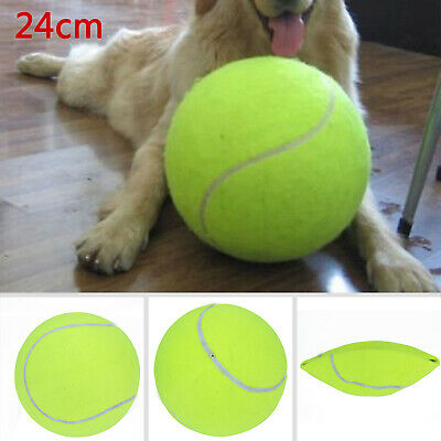 24cm/9.5'' Puppy Toys Large Tennis Ball For Pet Chew Toy Big Inflatable Launcher • 6.39£
