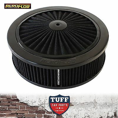 "AU189.95 • Buy Aeroflow Black Full Flow Air Cleaner Assembly 9"" X 2-34"" With Washable Filter"