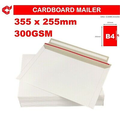 AU41.15 • Buy 100 X B4 Cardboard Envelope 300GSM Tough Bag Semi-rigid Mailer Peel & Seal