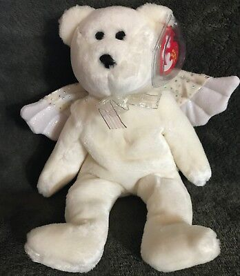 000b25cc4bf TY Beanie Baby HERALD The Christmas Angel Bear 8.5 MWMT Vintage Stuffed  Animal • 8.00