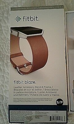 AU24.83 • Buy Fitbit Blaze Leather Accessory Band And Frame Camel Color
