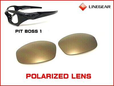 c4da890116 LINEGEAR Replacement Lens For Oakley Pit Boss 1 - Gold Mirror Pola  PB1-GM