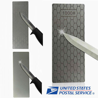 $6.69 • Buy New 1000# Sharpener Diamond Knife Sharpening Stone Whetstone Polishing Tool USA