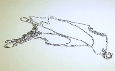£36 • Buy 18  9CT WHITE GOLD CHAIN 18 Inch CURB TRACE CHAIN 9 CARAT WHITE GOLD FINE