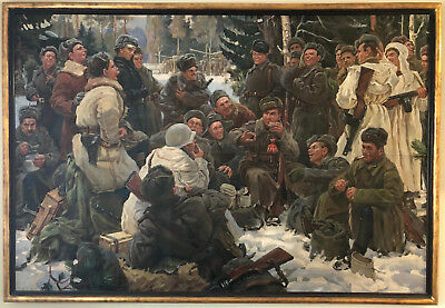 $42500 • Buy Yuri Neprintsev Original Russian Historical Oil Painting The Rest After Battle