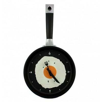 Clock Wall Frying Pan With Egg Fried • 17.01£